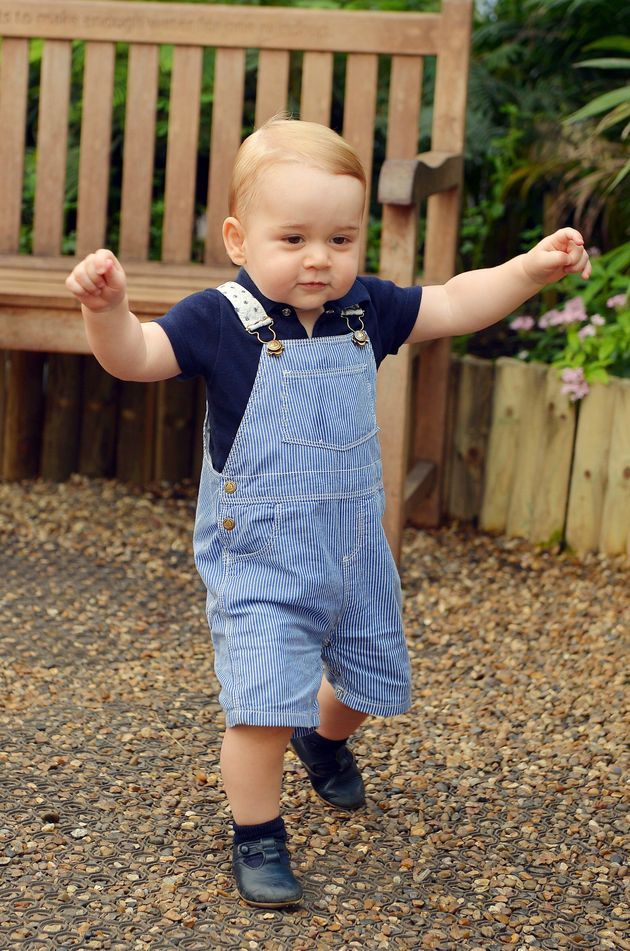 This adorable pic was taken to mark Prince George's first