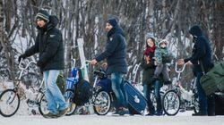 Malgré l'hiver, la liberté à vélo pour les migrants de