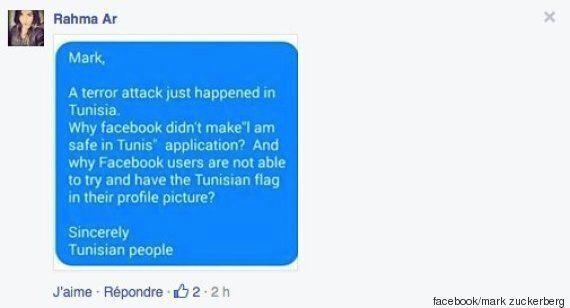 Attentat en Tunisie: Quand la toile tunisienne inonde la page Facebook de Mark Zuckerberg sur le