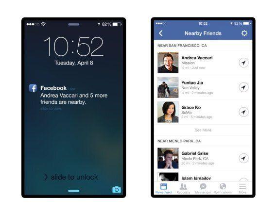 Facebook va signaler à vos amis quand vous êtes à proximité