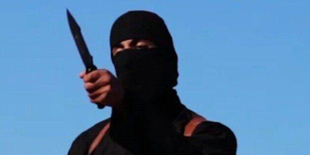 Capture d'écran d'une video de SITE en date du 13 septembre 2014 montrant Mohammed Emwazi