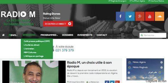 La webradio algérienne Radio M lance son site internet