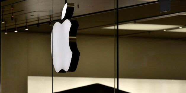The Apple logo is pictured at the Apple store in Oberhausen, Germany, as Apple Inc. launches worldwide...