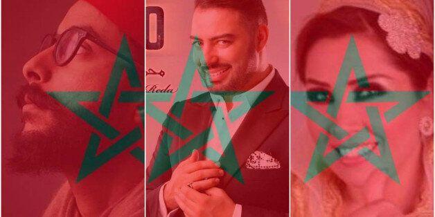 Said Charaf, Hamza El Maliki du groupe Barbapappa et Mohamed Reda ont adopté le drapeau