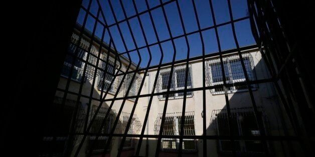 View of a courtyard at a former prison in Drahonice, Czech Republic, Friday, Oct. 2, 2015. Anticipating...