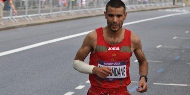 Abderrahime Bouramdane lors des JO de Londres en