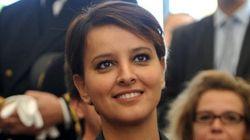 La ministre française de l'éducation Najat Vallaud-Belkacem en visite en