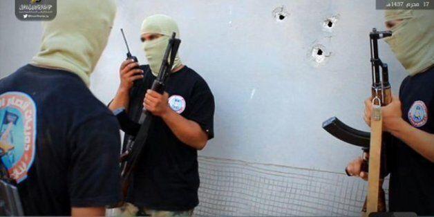 Photo d'un camp d'entrainement à Derna diffusée sur