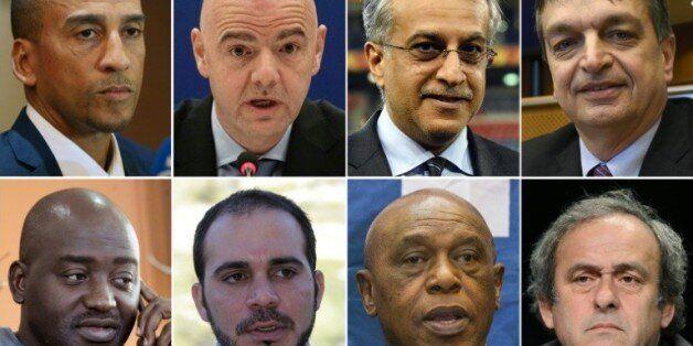 Photomontage des 8 candidats à la présidence de la