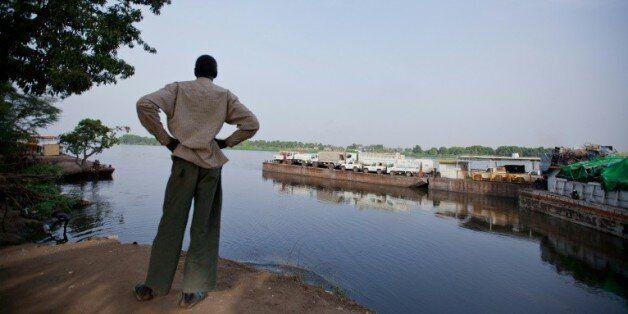 Un bras du Nil au port de Juba, au Soudan du Sud, le 28 février