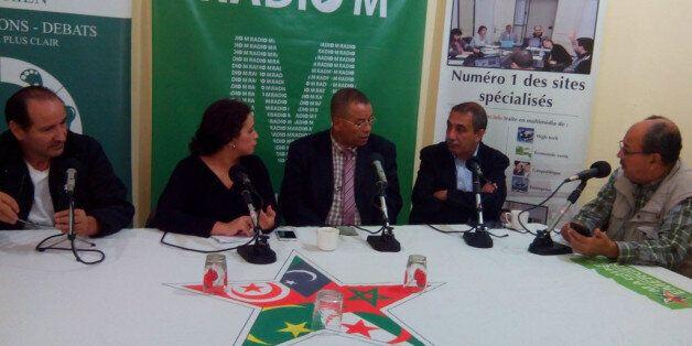 Abdelkrim Ghezali, Souhila Benali, Abed Charef, Ihsane El Kadi et Saïd Djaafer au Café Presse Politique...