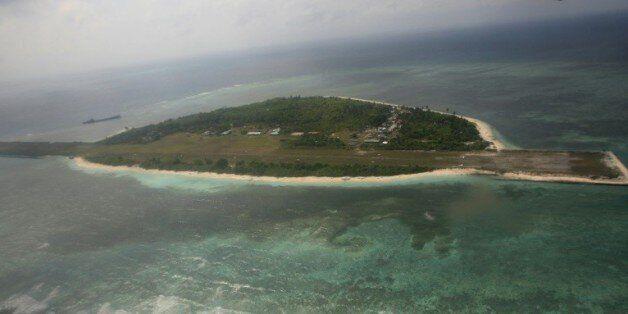 Vue aérienne en date du 20 juin 2011 de l'île Thitu dans l'archipel des Spratleys en mer de Chine