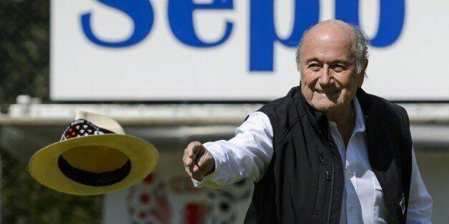 Sepp Blatter, lors du tournoi qui porte son nom, le 22 août 2015 dans sa ville