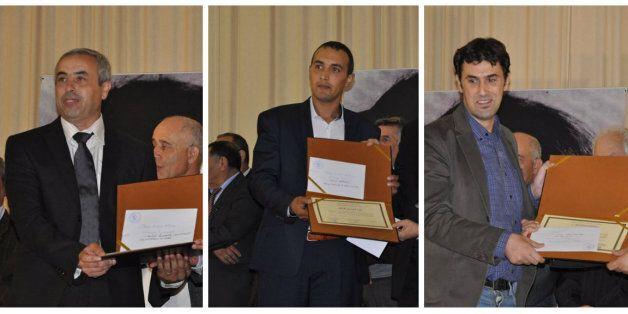 Les trois auteurs lauréats du prix Assia Djebar du roman