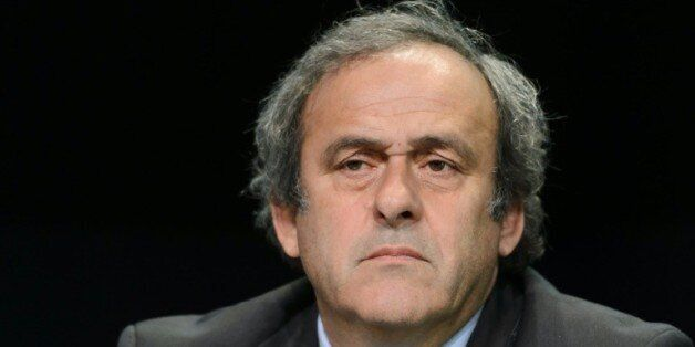 Le président de l'UEFA Michel Platini en conférence de presse lors du 65e congrès de la Fifa, le 28 mai...