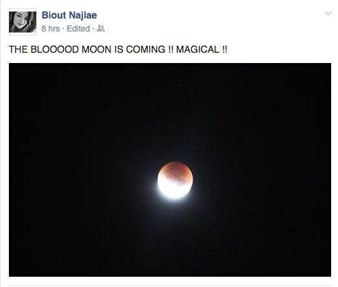 Les internautes partagent leurs photos de la super lune de