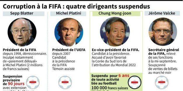 Corruption à la FIFA: quatre dirigeants