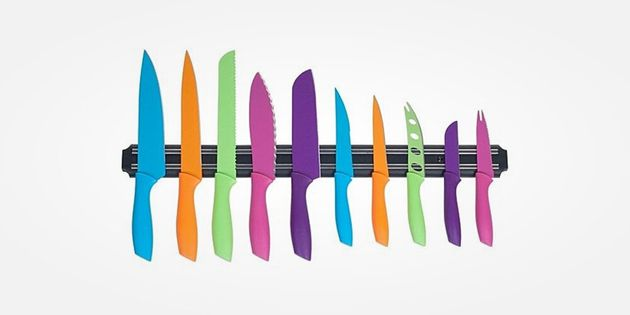 Classic Cuisine 10-Piece Multi-Colored Knife Set & Magnetic