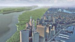 Voici le site de New York, il y a 400