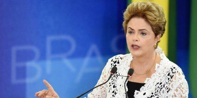 La présidente brésilienne Dilma Rousseff, le 5 octobre 2015 à