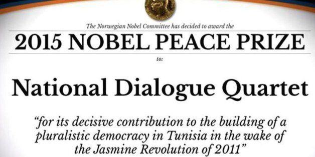 Le Quartet parrain du dialogue national tunisien obtient le prix Nobel de la paix