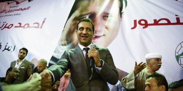 TO GO WITH AFP STORY BY JAY DESHMUKH - Ahmed Mortada Mansour, Egyptian candidate for the liberal Free...
