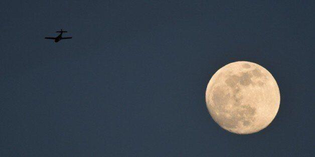 La lune vue depuis Cali le 26 septembre 2015 en