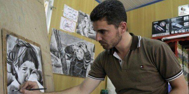 En Jordanie, dans un camp de réfugiés, des artistes syriens rêvent