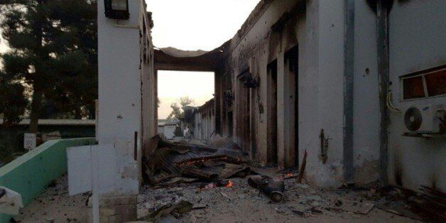 L'hôpital de MSF à Kunduz après son bombardement, le 3 octobre 2015 en