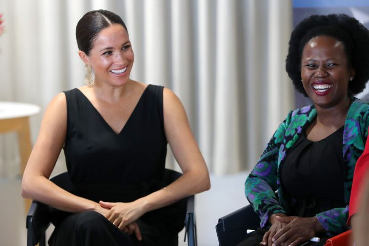 The Duchess of Sussex speaks with 12 inspiring female entrepreneurs as she visits Woodstock Exchange, a women founders/social