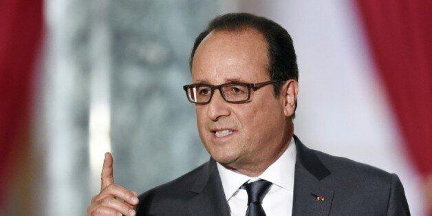 Le président François Hollande lors d'une conférence de presse le 7 septembre 2015 à l'Elysée à