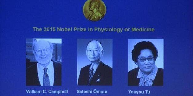 Le prix Nobel de médecine 2015 revient à William Campbell, Satoshi Omura et Youyou