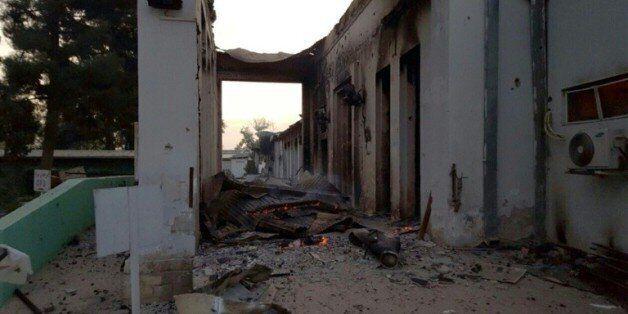 L'hôpital de MSF à Kunduz après son bombardement, le 3 octobre 2015 en Afghanistan © MSF/AFP