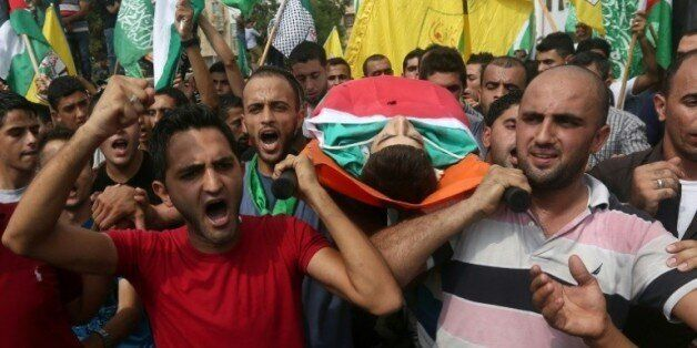 Obsèques le 5 octobre 2015 à Bala de Houzeifa Othmane Souleimane un jeune Palestinien tué la veille à