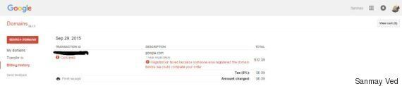 Google.com: le nom de domaine a changé de propriétaire pendant une minute, suite à un possible
