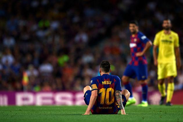 Messi sufre una elongación del aductor del muslo