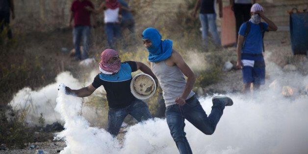 Des jeunes Palestiniens en