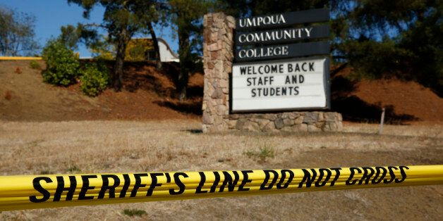 A sign welcomes students back to Umpqua Community College, Monday, Oct. 5, 2015, in Roseburg, Ore. The...
