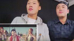 Deux Sud-Coréens réagissent à