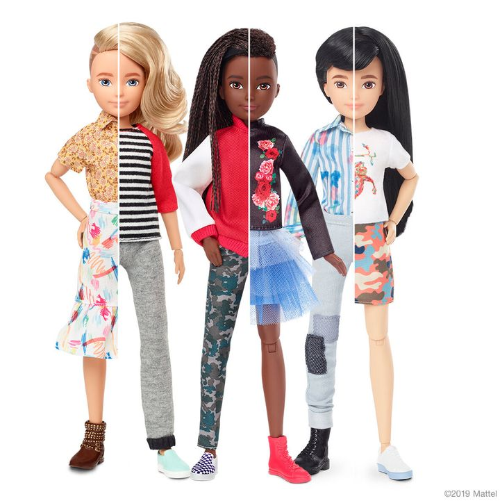 Mattel's new collection of gender-inclusive dolls.