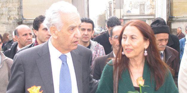 Hocine Aït Ahmed avec Annie Mecili, la veuve du militant du FFS