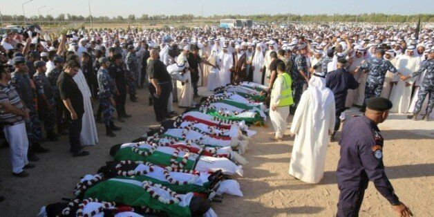 Obsèques le 27 juin 2015 à Koweit City des victimes de l'attentat commis la veille contre une mosquée