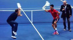 Djokovic célèbre sa victoire en dansant avec un