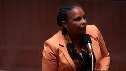 Christiane Taubira, ministre de la Justice français est en visite à
