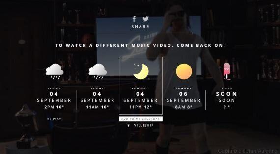 Le duo Aufgang imagine un clip qui s'adapte à votre météo