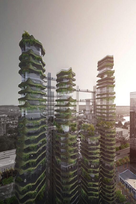 Des tours vertes futuristes inventées pour Los Angeles