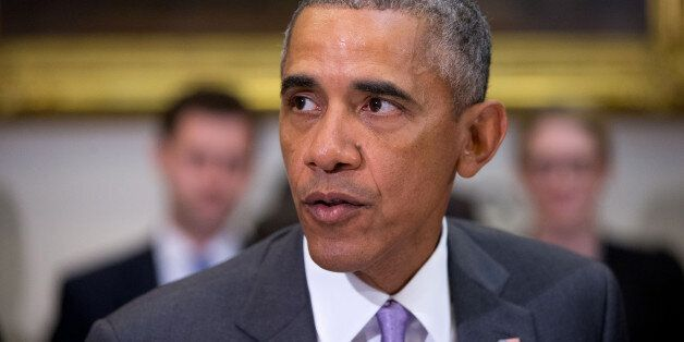 President Barack Obama meets with veterans and Gold Star Mothers to discuss the Iran Nuclear deal, Thursday,...