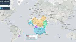 Non, la Chine et les Etats-Unis ne sont pas aussi grands que
