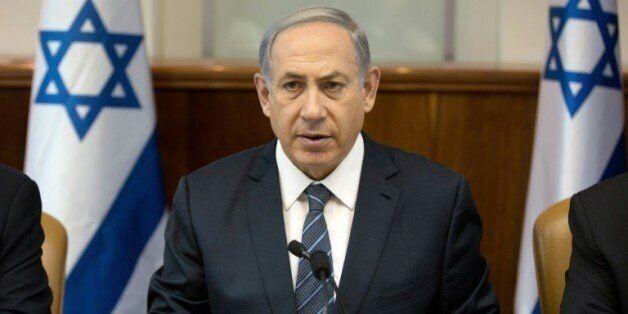 Le Premier ministre israélien Benjamin Netanyahu s'exprime lors du conseil des ministres à Jérusalem,...