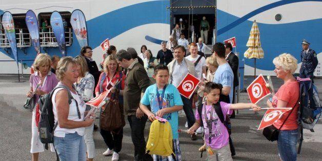 Touristes arrivant en